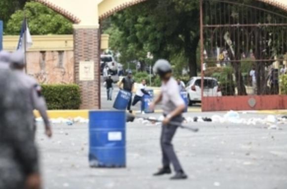 Disturbios en la UASD en demanda de un mayor presupuesto