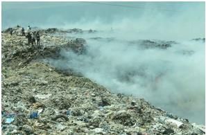 El vertedero de Haina aún sigue emanando humo