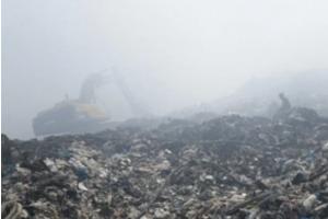 Apagaron fuego afectó el basurero de Haina
