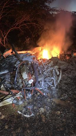 Avioneta que se estrelló en Pedernales no tenía plan de vuelo; DNCD aun investiga