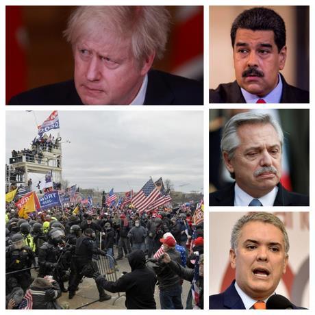 Líderes mundiales en conmoción por caos en Capitolio de EE.UU.
