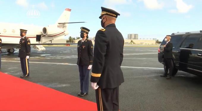 Abinader llega a Puerto Rico para toma de posesión del nuevo gobernador