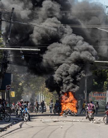 Protestas en Haití dejan un muerto y un herido